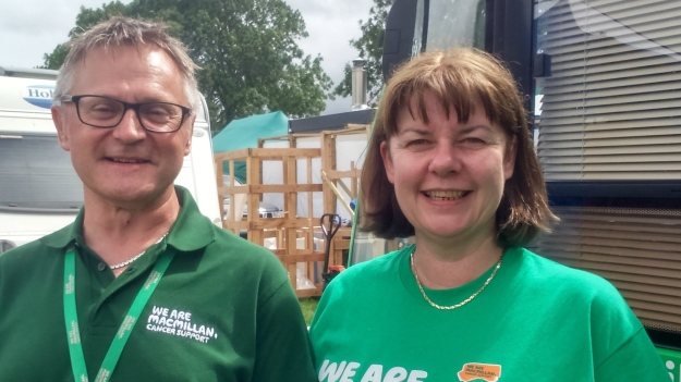 Welfare benefits advisers Tim Wiffen and Helen Powel