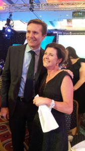 Roger Black and Gill at a Macmillan Professional event