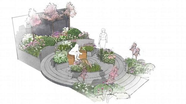 Illustration of the Macmillan legacy garden