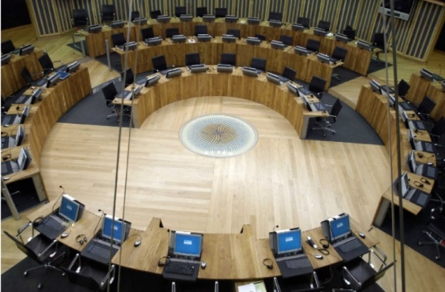 The chamber in the Senedd