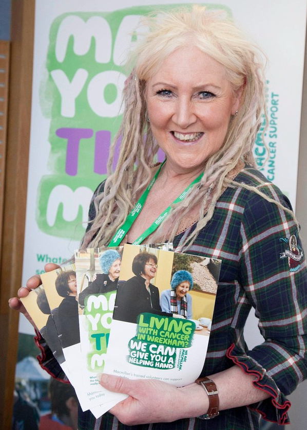 Marian Stewart (volunteer) with leaflets